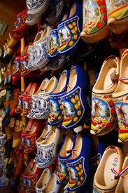 shoe wood row pattern amusement park color paint craft colorful art holland festival netherlands dutch wooden