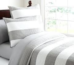 for room gray rugby stripe quilt pottery barn kids quilted bedding rugby stripe bedding
