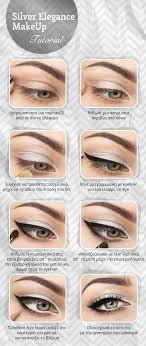 elegant silver eye makeup tutorial
