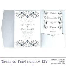 Wedding Invitation Set Templates Folded Wedding Invitation Templates Pocket Fold Envelope Template