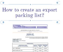 How To Create An Export Packing List Advancedontrade Com Export