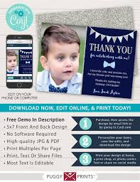 Electronic Thank You Card Free Mr Onederful Birthday Thank You Card With Photo Editable