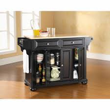 Portable Kitchen Island With Granite Top Crosley Furniture Alexandria Solid Black Granite Top Portable