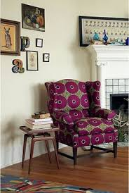 i m a er for a clic wingback upholstered in a modern fabric