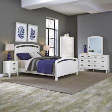 Home Styles Newport White King Bed Frame