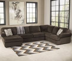 Sectional Sofas Mankato Mn Jessa Place Chocolate Casual Sofa With