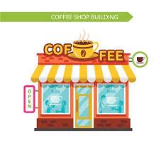 coffee shop building clipart. Plain Clipart Coffee Shop Building With Signboard In Shop Building Clipart