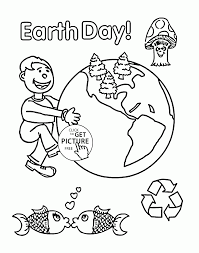 Very Happy Earth Day Coloring Page For Kids Coloring Pages