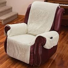 chair covers. recliner chair cover one piece w/armrests and pockets - size fits most covers