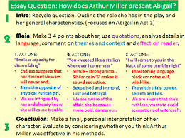 essay on the crucible by arthur miller essays for the crucible  abigail williams essay the crucible essay