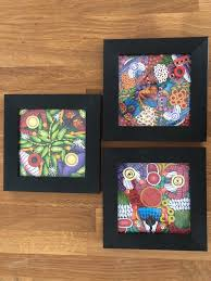 set of 3 square picture frames