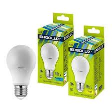 <b>Светодиодная лампа Ergolux</b> ЛОН <b>A60</b> E27 <b>10W</b>(880lm 270°)
