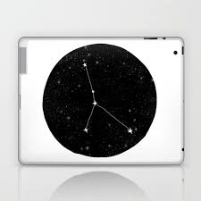 Star Chart Without Constellations Cancer Zodiac Constellation Star Chart Night Sky Star Signs Laptop Ipad Skin By Monoo