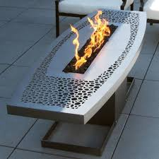 square steel outdoor fire pit