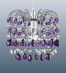 purple ceiling light crystal shade glass purple ceiling light romantic colored glass