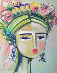 <b>Portrait</b> Print <b>woman</b> art impressionist modern <b>abstract girl canvas</b> or ...