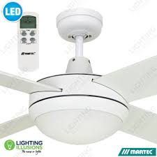 white warm white martec lifestyle 52 ceiling fan with 12w dimmable led light lcd remote