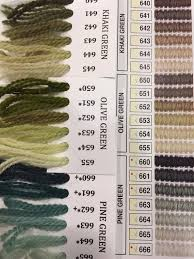 Paternayan Colour Chart Color Card Chart With Vintage Paternayan Persian 3ply Yarn