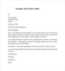 Teaching Physics Cover Letter Cover Letter For A Teacher Position