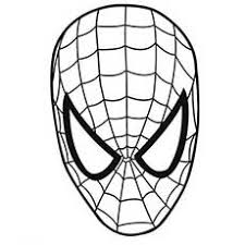 spiderman to color. Plain Color Spiderman Mask Coloring Pages For Kids Intended To Color L