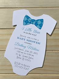 Set of 10 Bow Tie Baby Shower Invitations - Many Bow Tie Choices Available  - All