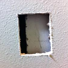 repairing dry wall holes fixing hole in drywall repairing drywall holes with mesh tape