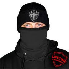 Frost Tech Tactical Black Fleece Face Shield Alpha Defense Co