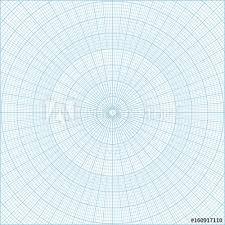 Blue Polar Coordinate Circular Grid Graph Paper Graduated Every 1