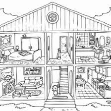 Small Picture Coloring Pages Full House Kids Drawing And Coloring Pages Marisa