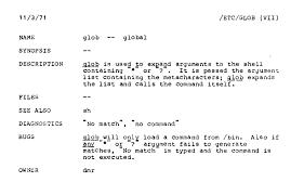 Pattern Of Reference Letter Glob Programming Wikipedia