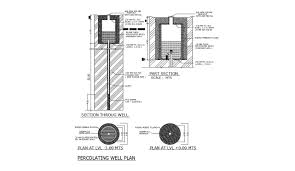 Water Well Design Drawing Water Well Design Cad File