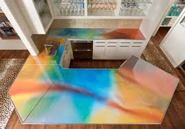 recycled glass countertops diy 16 interesting design kitchen with regarding glass kitchen countertops