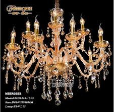 15 lights murano venetian style gold crystal chandelier lamp vintage cristal hanging light fixtures md8345