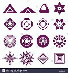 Geometric Shapes For Design Set Of Abstract Geometric Shapes Symbols For Your Design