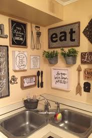 Whether your style is vintage, shabby chic, bright and colorful, or modern, these ideas will help give your kitchen a pop of personality! New Large Kitchen Wall Decor Ideas Picture Country Kitchen Wall Decor Kitchen Gallery Wall Kitchen Decor Wall Art