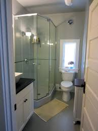 bathroom shower designs small spaces. Small Bathroom Idea Featured Two Piece Toilet Under Window Next To Corner Shower Stall With Glass Designs Spaces M