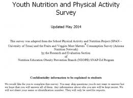 School Survey Questions California Youth Nutrition And Physical Activity Survey Snap Ed