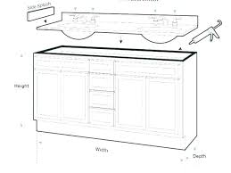 standard typical vanity height cabinet bathroom mirror size counter