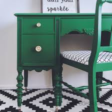 green painted furniture. Emerald Green Desk, Gold Hardware, Reupholstered Chair, Before And After, Painted Desk Furniture P