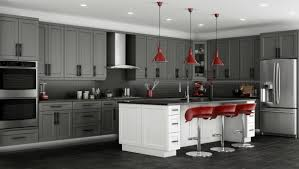Light Grey Cabinets In Kitchen Beautiful Red And Grey Kitchen Cabinet With Ceramic Floor Kitchen