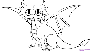 Baby Dragon Coloring Pages For Kids With Fresh Cute Baby Dragon