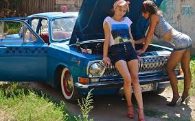 Girls and a GAZ Volga Babes Cars Pinterest Cars Girls and.