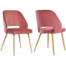 Songmics Esszimmerstühle 2er Set Retro Sessel Küchenstühle