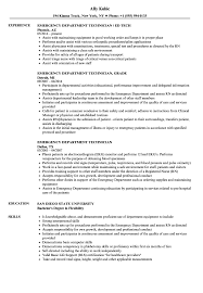 Emergency Department Technician Resume Samples Velvet Jobs