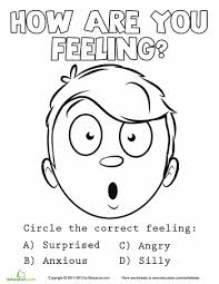 308905c1f22ad3021caf2032159cc37c emotions coloring sheet 7 coloring, feelings and coloring sheets on free social skills worksheets