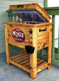 wood patio cooler original outdoor