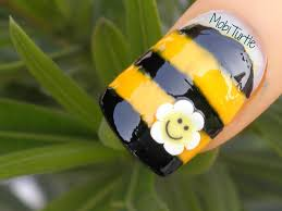 EASY CUTE HONEY BEE NAIL ART FOR BEGINNERS USING FIMO CANE POLYMER ...