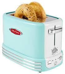aqua blue nostalgia bagel toaster
