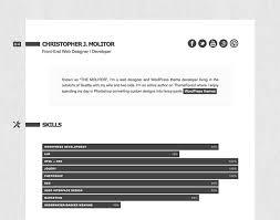 Html Resume 50 Professional Html Resume Templates Web Graphic Design Bashooka