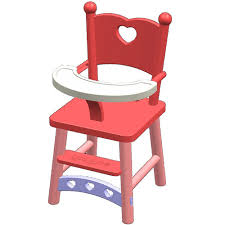 You & Me Baby Doll High Chair - You & Me - Toys